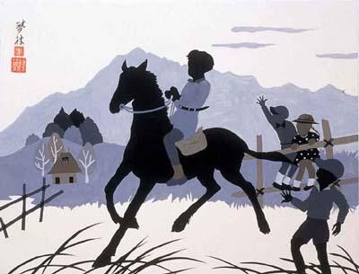 3216「子馬とこども」夢村