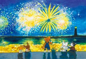 浜辺の花火
