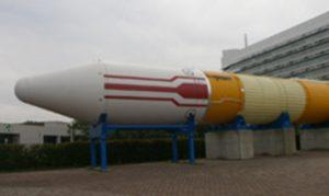 H-Ⅱロケットの実機 分かりにくいけどド迫力。50mもあります!
